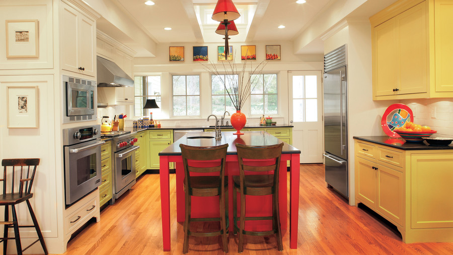 Kitchen inspiration southern living for 1930s kitchen floor