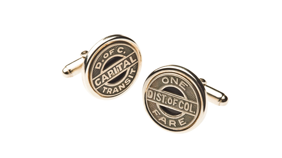 Southern Christmas Vacations: Gifts from Washington, D.C. Trolley Tokens Cuff Links