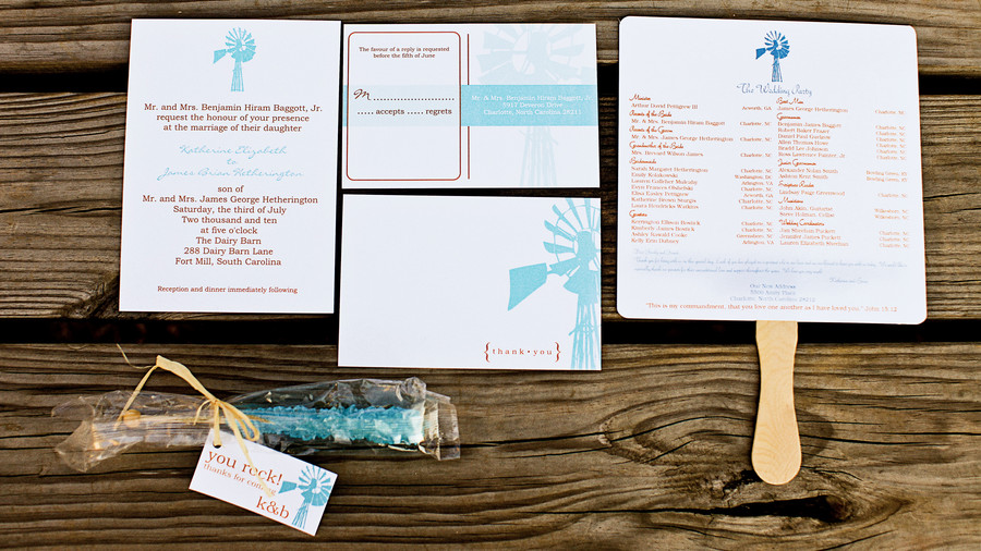 Fun Windmill Invitations