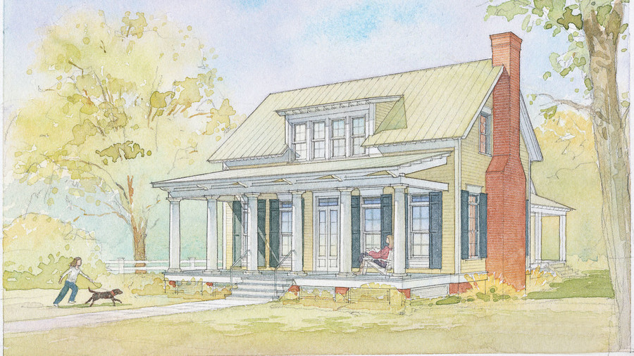8) Lowcountry Cottage,Plan #1121