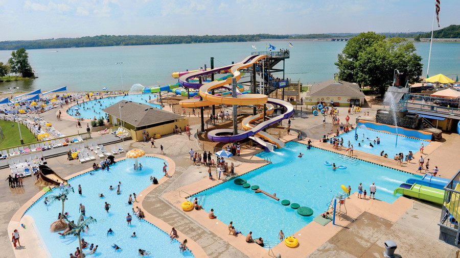 Splash Around in a Water Park (That's on a Lake!)