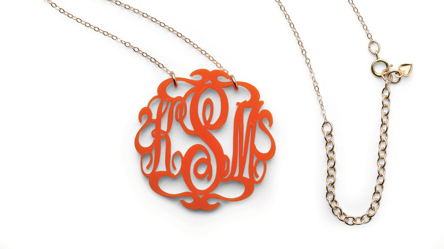 Monogrammed Necklace in 17 Colors