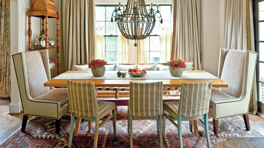 After: Warmed-Up Dining Room
