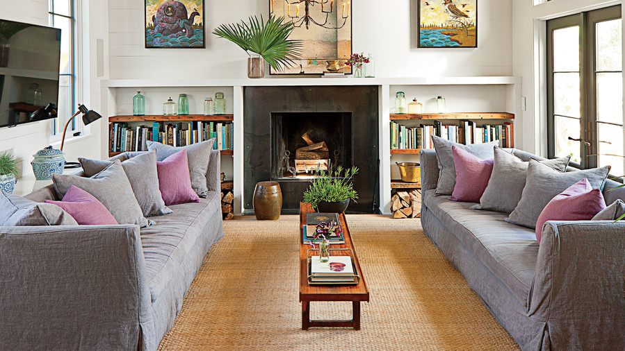 Family Room Fireplace. 25 Cozy Ideas for Fireplace Mantels   Southern Living