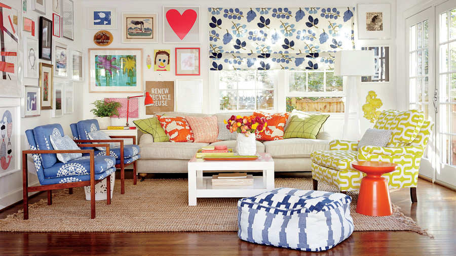 After: Family-Friendly Living Room