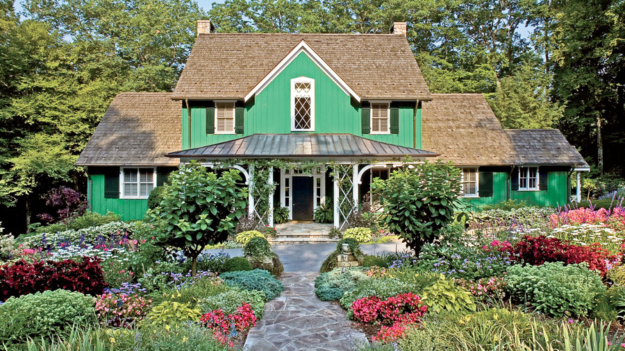 picturesque city homes and gardens. Gothic Farmhouse Exterior Charming Home Exteriors  Southern Living