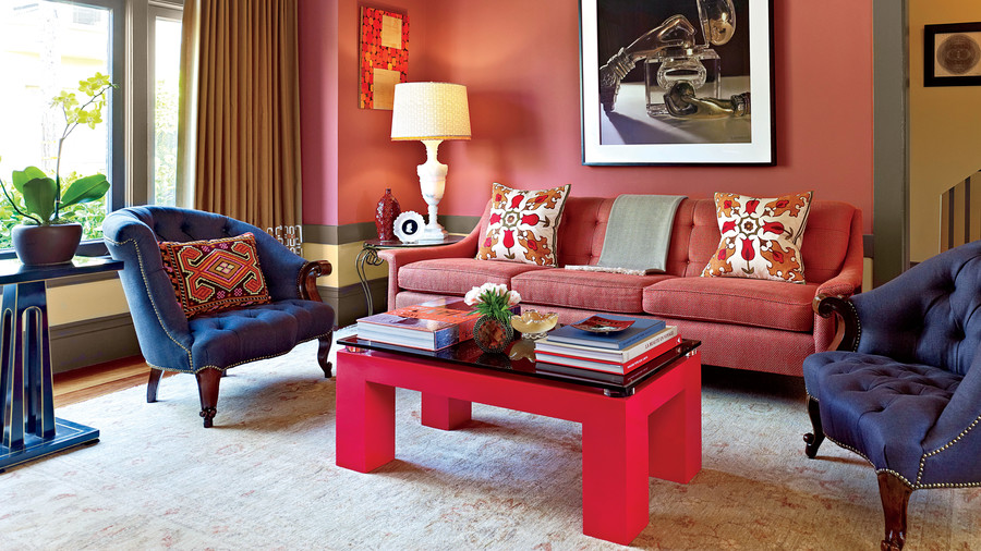 red-coffee-table