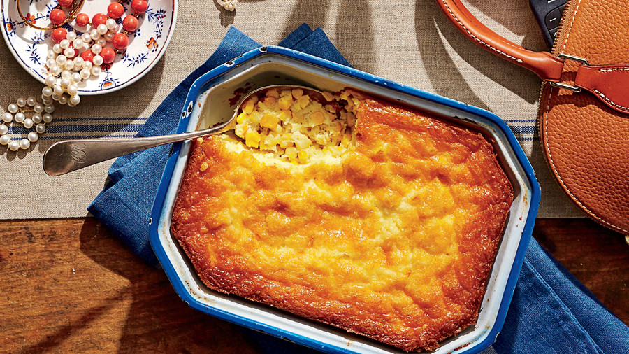Corn Pudding on the Thanksgiving Table