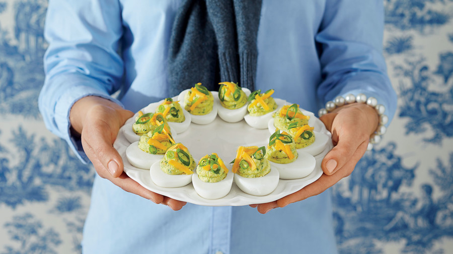 Tex-Me Deviled Eggs
