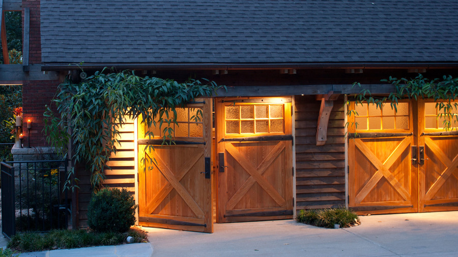 Swinging Wood Garage Doors