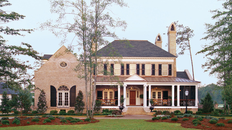 17 house plans with porches southern living for Southern homes and gardens house plans