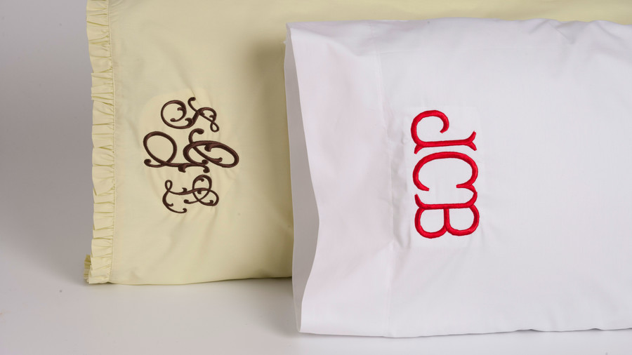 Monogrammed Pillowcases