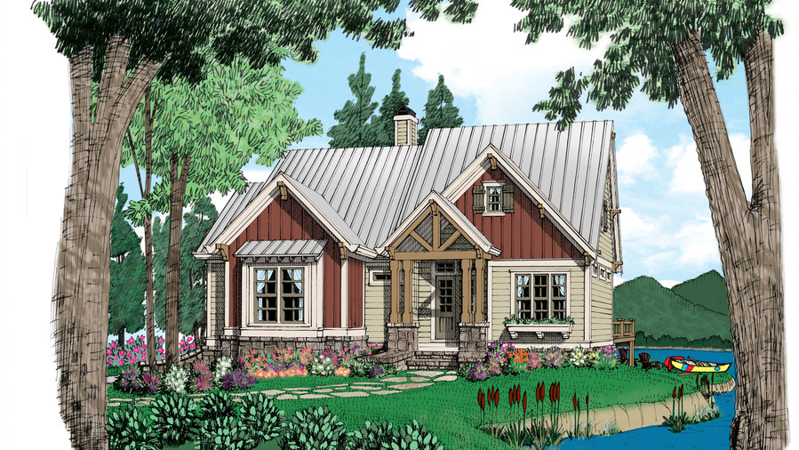 18 small house plans southern living for Simple roofline house plans