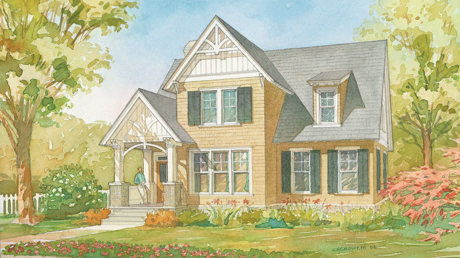 ellsworth cottage plan 1351