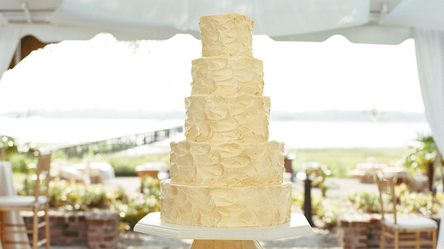 Swirled Wedding Cake