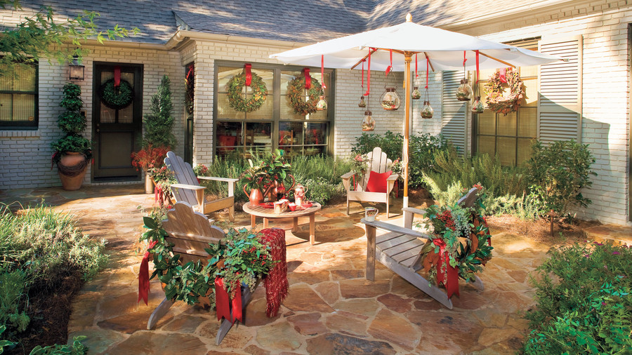 christmas decorating ideas outdoor furniture