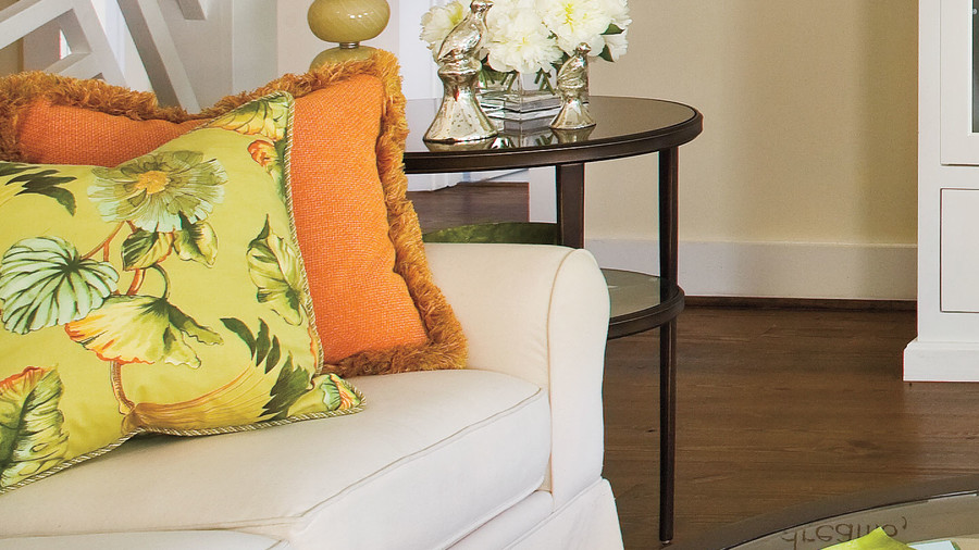 5. Swap Out Your Throw Pillows