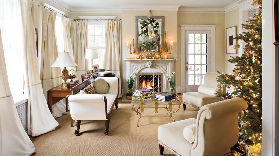 Christmas Decorated Living Rooms Ideas Part - 29: Christmas Decorating Ideas: Cream Decorations