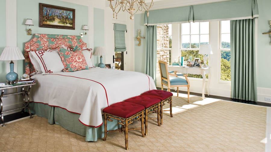 Inviting Upholstered Headboards Southern Living Simple Patterned Headboards