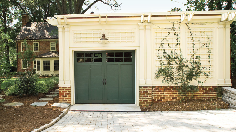 Painted Wood Garage Doors