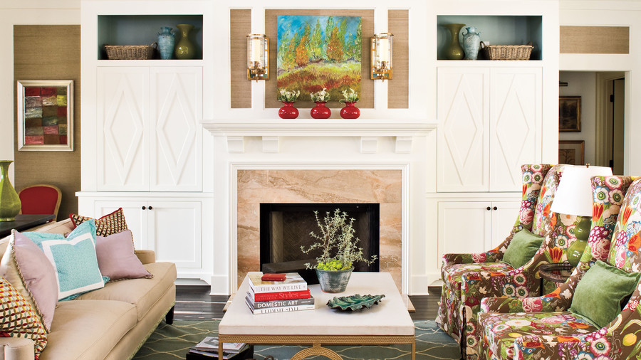 symmetrical fireplace - Decorating Ideas For Living Room With Fireplace