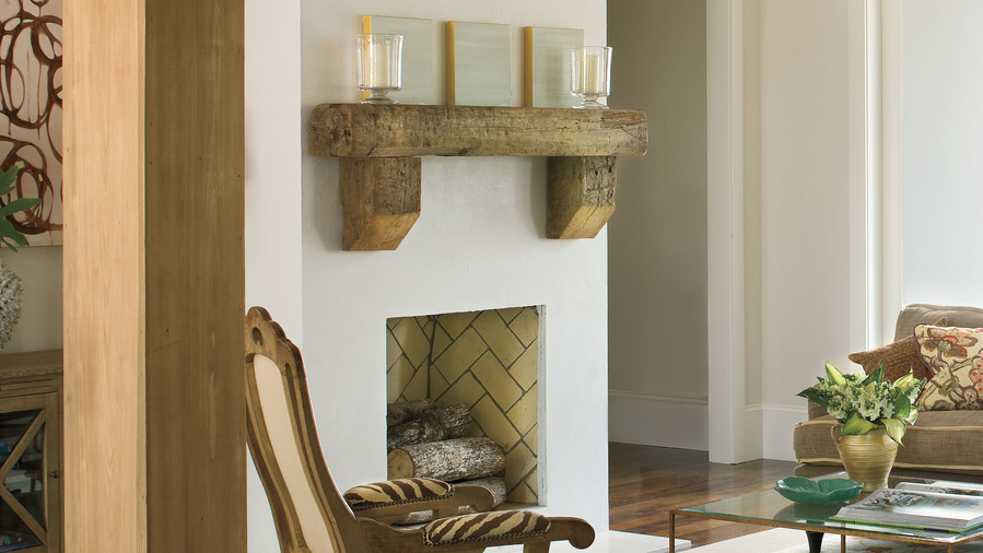 Rustic Simple Fireplace
