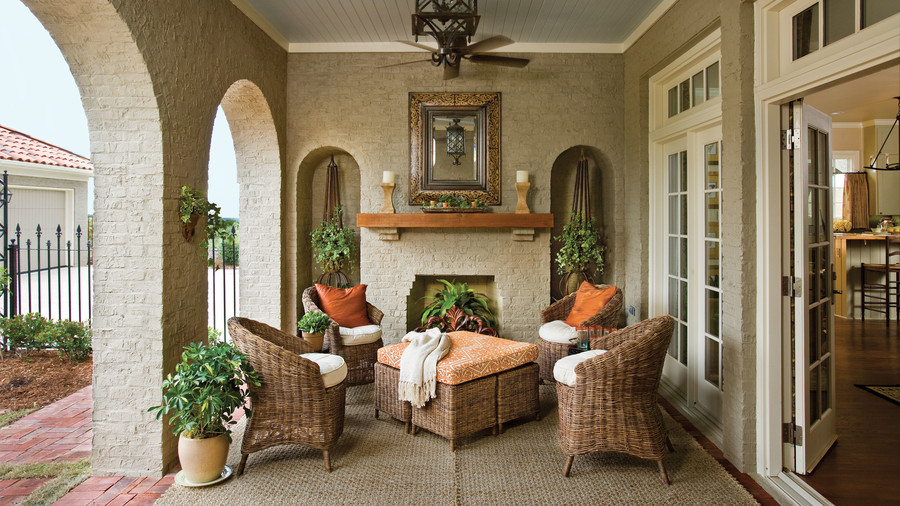porch and patio design inspiration southern living rh southernliving com outdoor dining room furniture outdoor furniture room place