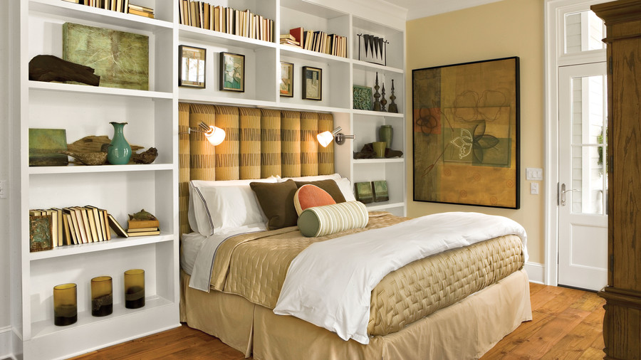 Built In Headboard inviting upholstered headboards - southern living
