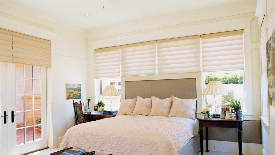 Bedroom window treatments southern living for Shades for bedroom windows