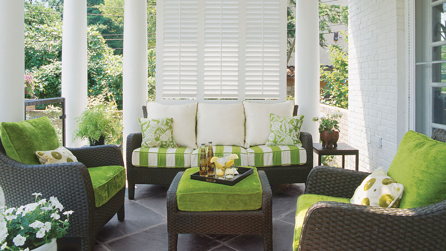 Bright Green Porch