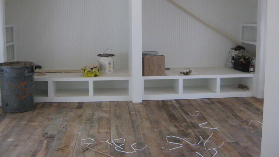 Construction Upstairs Wood Floors