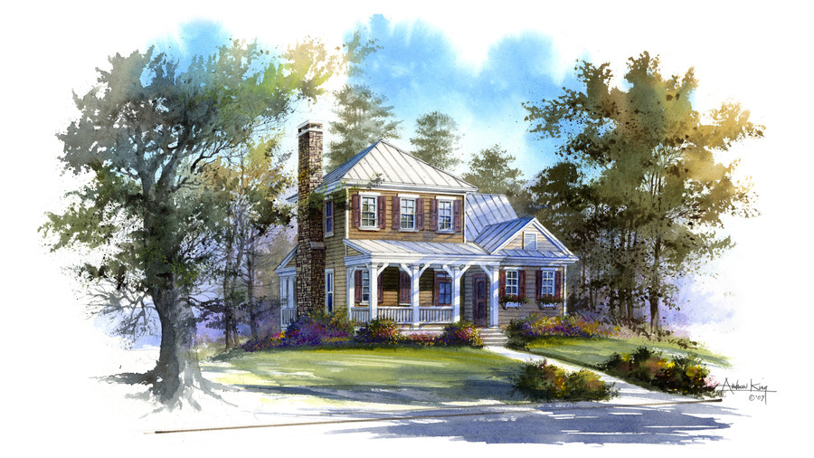 Topwater Lodge, Plan #1385