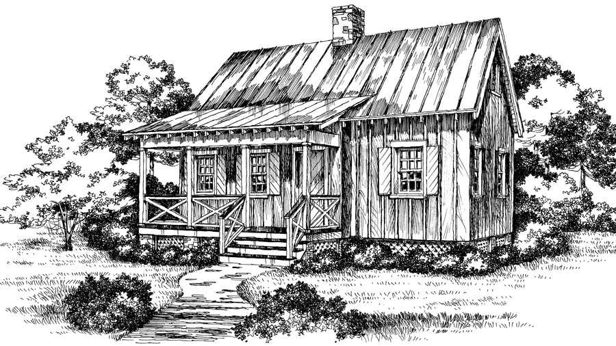 Cabins & Cottages Under 1,000 Square Feet - Southern Living on ideas for landscaping front yard ranch house, front entrance design ideas house, pathway for front yard ranch house, garden layout, white organic garden bus house, outdoor garden house, garden designs for slopes, garden glass house, front flower design ideas house, creating front garden against house, garden designs front porch, michelle's white garden house, build a fairy garden house,