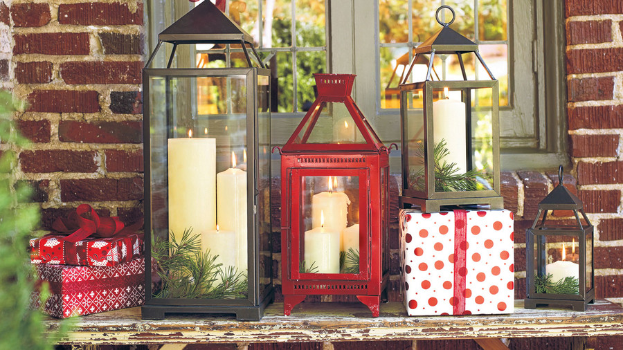 christmas decorating ideas lanterns