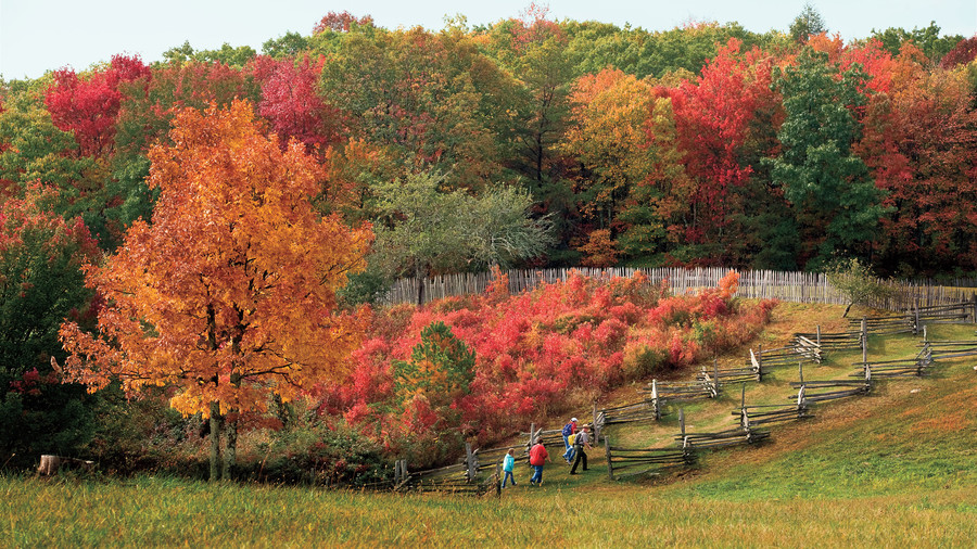 southern mountain destinations for fall southern living