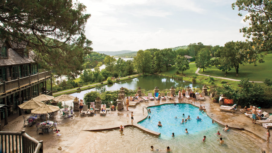 devil's pool overlooking table rock lake at big cedar lodge