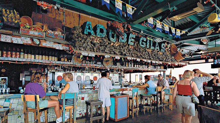 Tampa, Florida interior of Adobe Gila's cantina