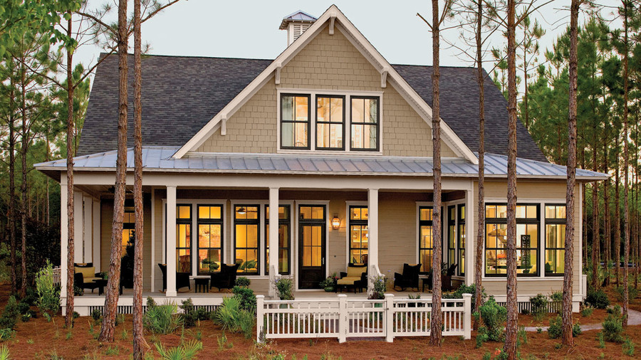17 house plans with porches southern living for Bayou cottage house plan