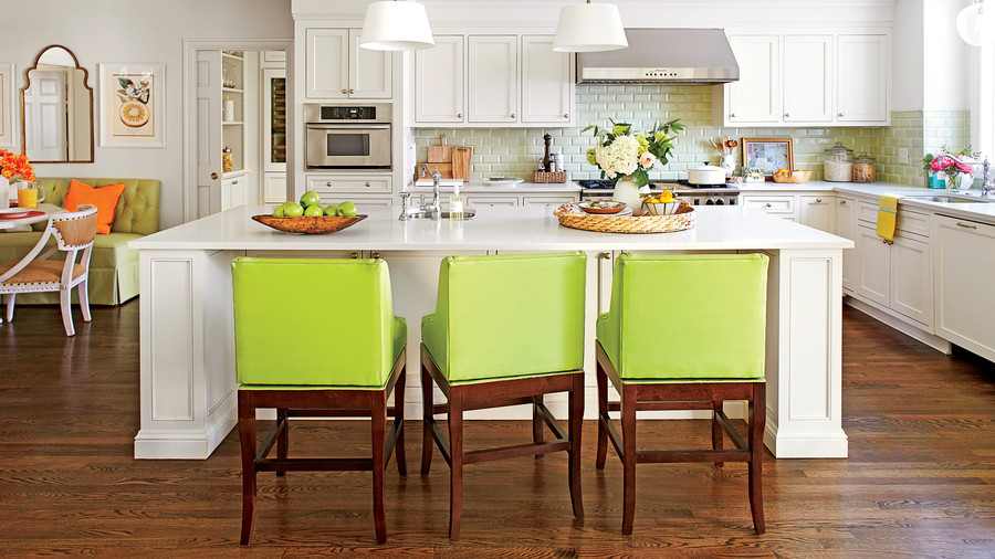 Large White Kitchen Island