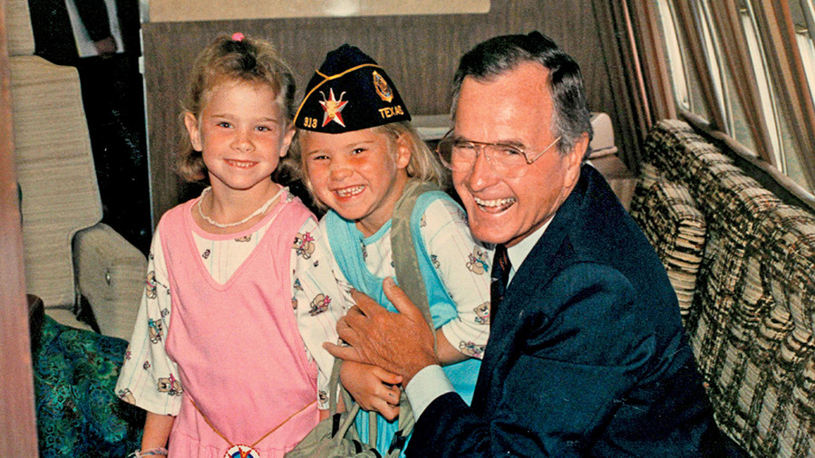 Barbara Bush, Jenna Bush Hager, and grandfather George Bush