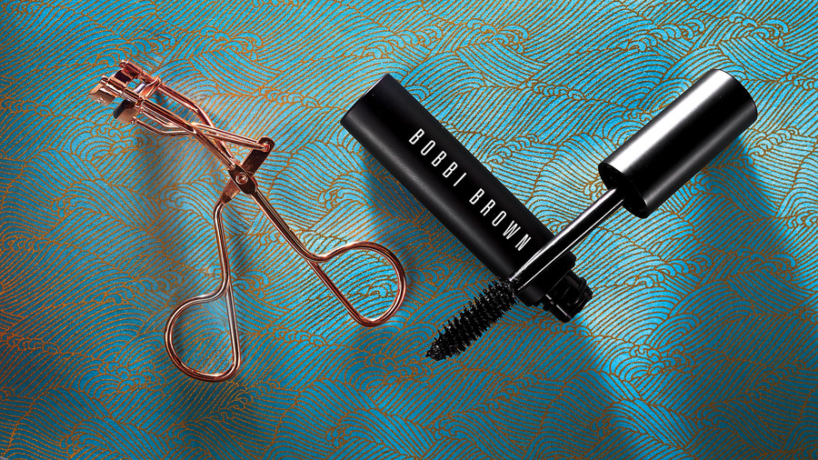 For Dramatic Lashes: Curler + Volumizing Mascara