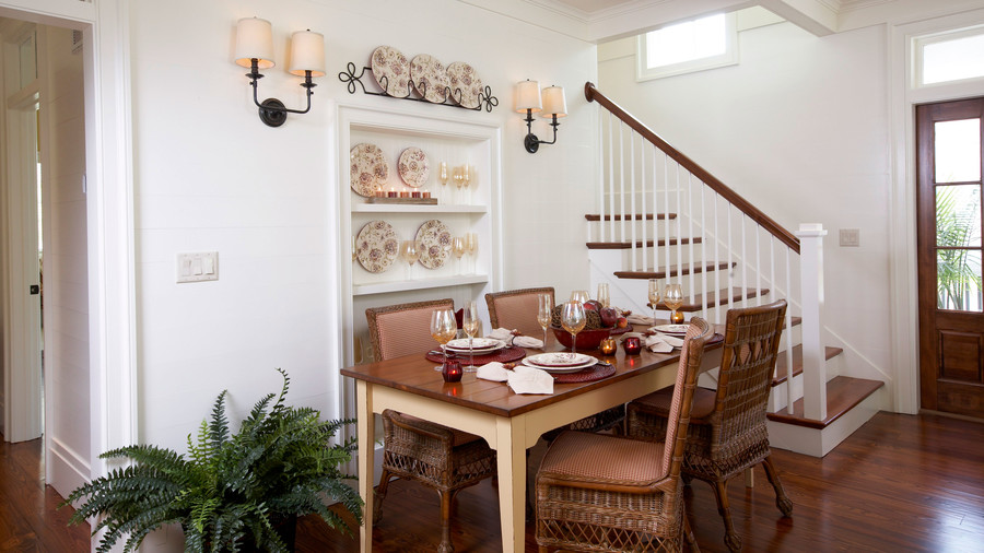 Save Space with Built Ins. Stylish Dining Room Decorating Ideas   Southern Living