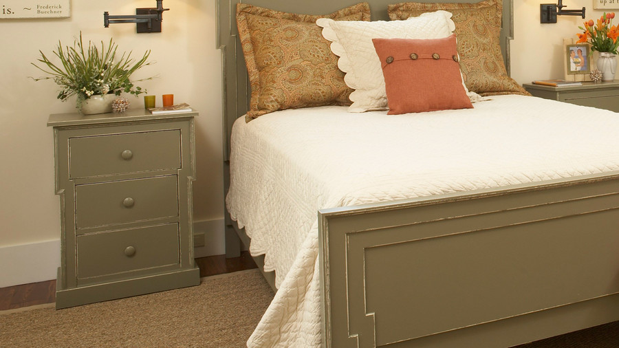 bedside table and lighting - southern living