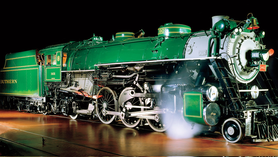 """National Museum of American History Top Sites: Southern Railway Locomotive """"1401"""""""