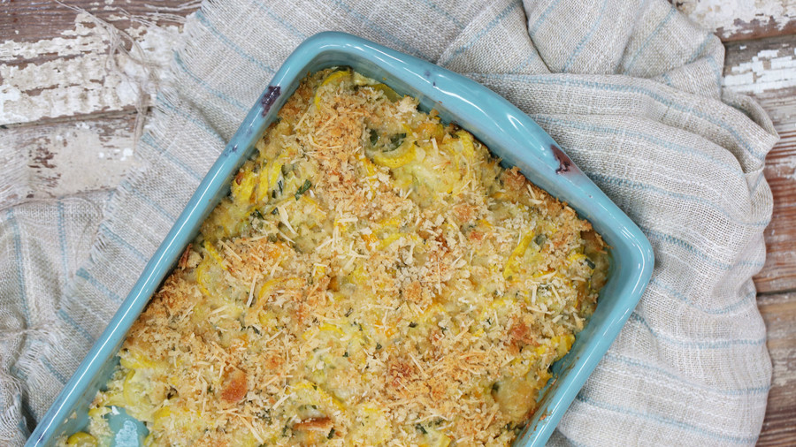 Two-Cheese Squash Casserole Image