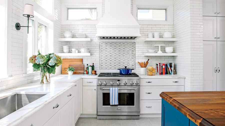 White Open Kitchen After