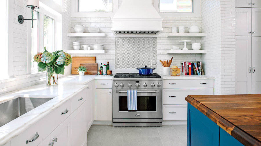 White Kitchen Orange Accents all-time favorite white kitchens - southern living