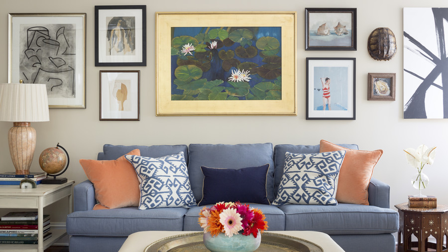 Art Wall in Kiawah Living Room