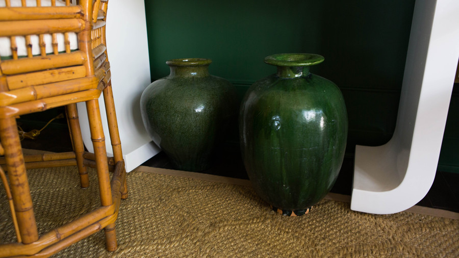 Green Floor Vases