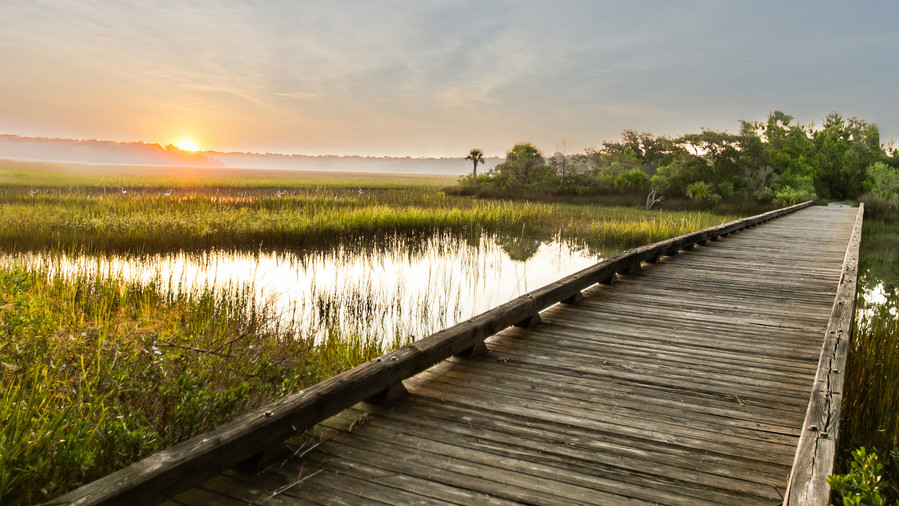 Long Dock Sunset Marsh